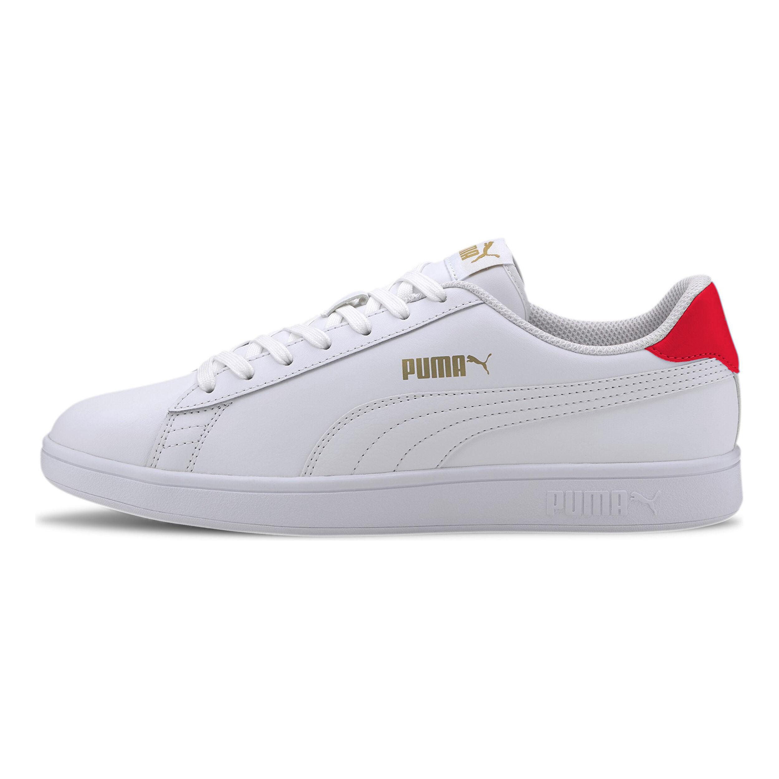 buy Puma Smash V2 Sneakers Men - White, Red online   Jogging-Point