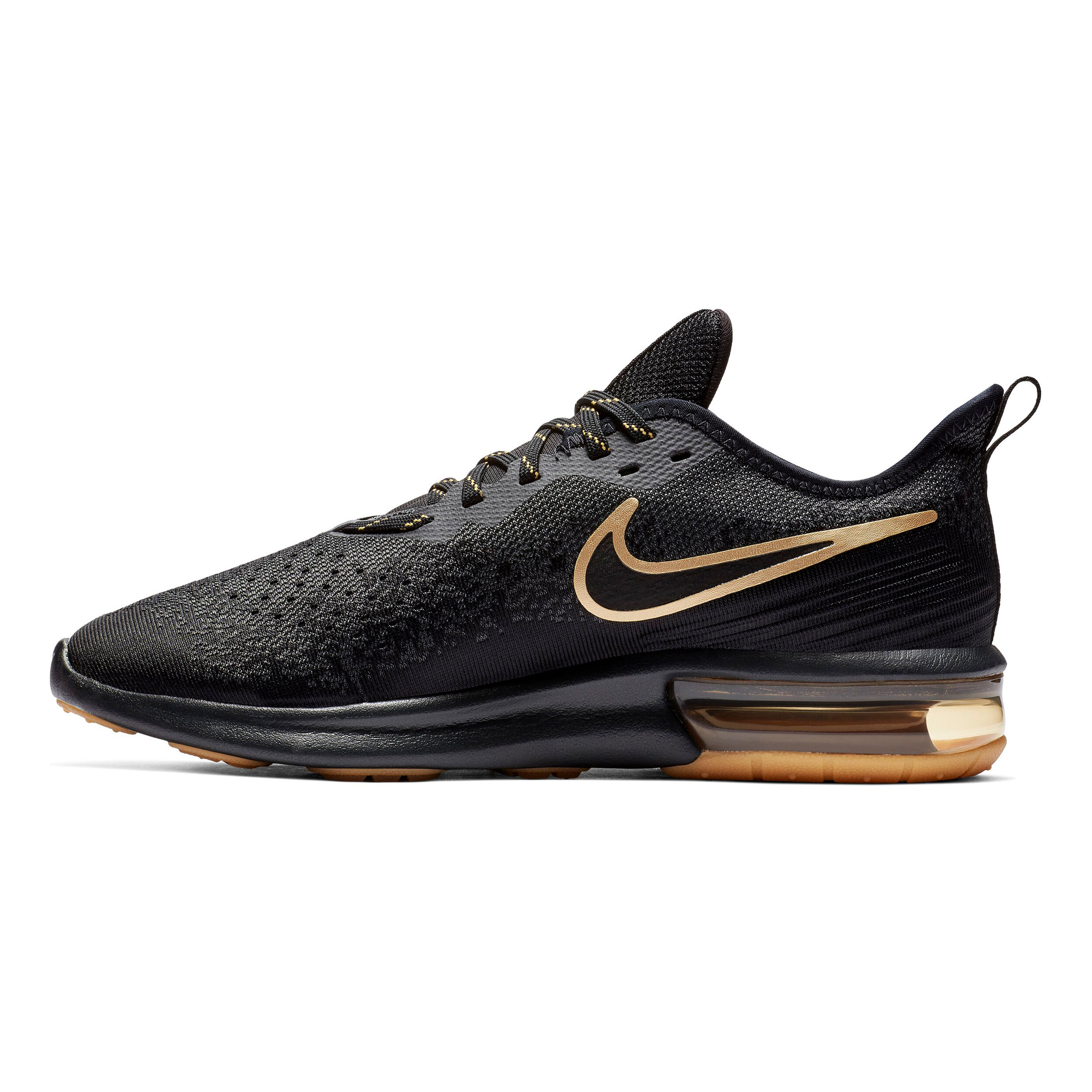 Air Running Max Shoe 4 Nike Men Neutral Sequent BlackGold XPiZOku