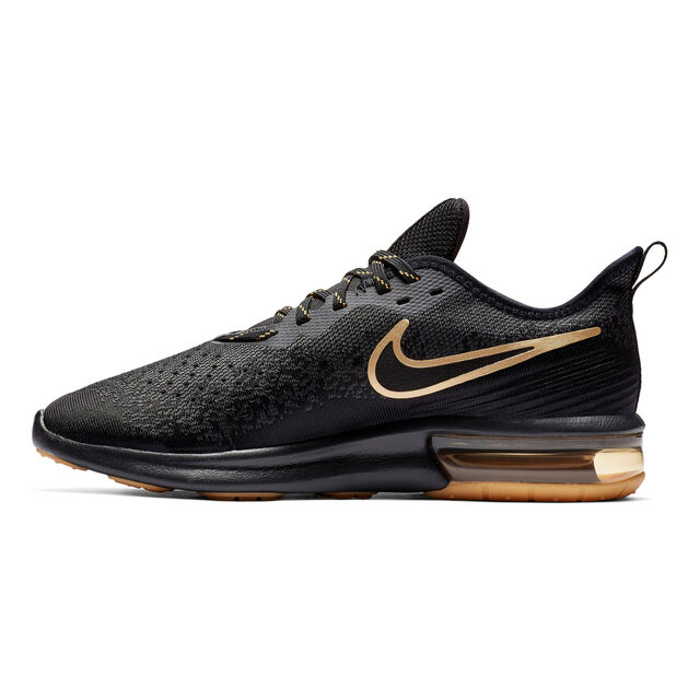 papelería mientras fragmento  buy Nike Air Max Sequent 4 Neutral Running Shoe Men - Black, Gold online |  Jogging-Point