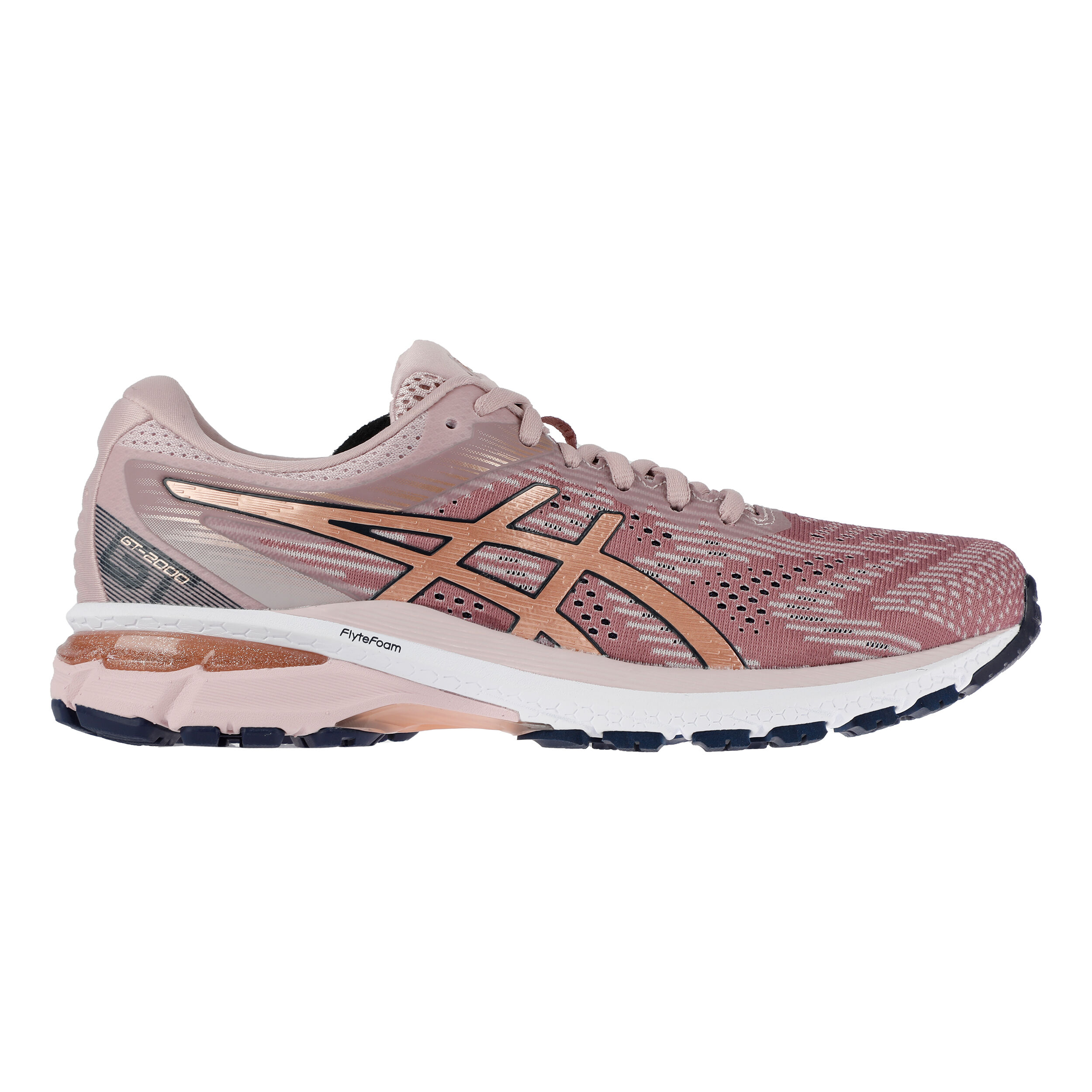 Asics GT-2000 8 Stability Running Shoe Women - Pink, Ecru