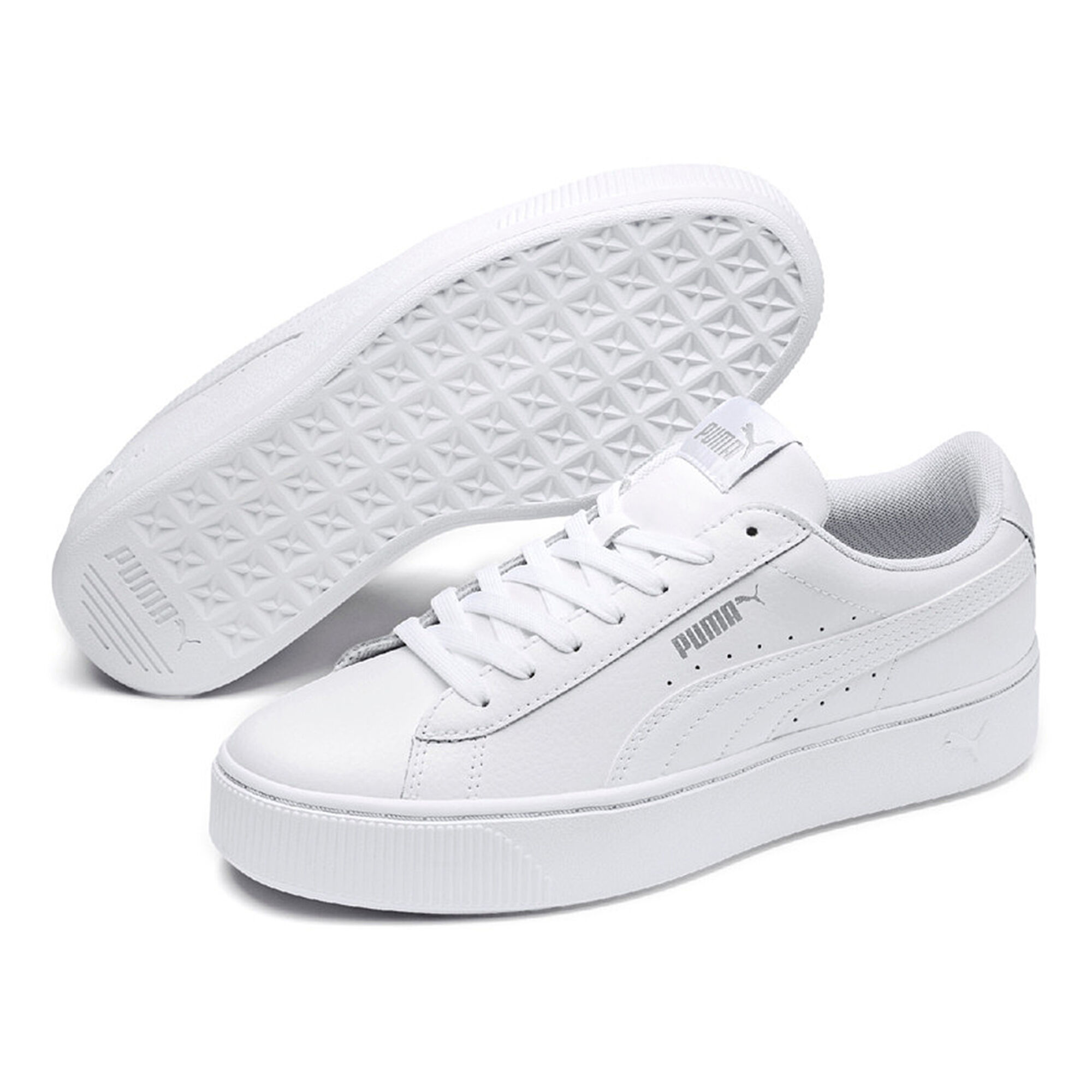 d6c2a6ecf buy Puma Vikky Stacked L Sneakers Women - White, Grey online ...