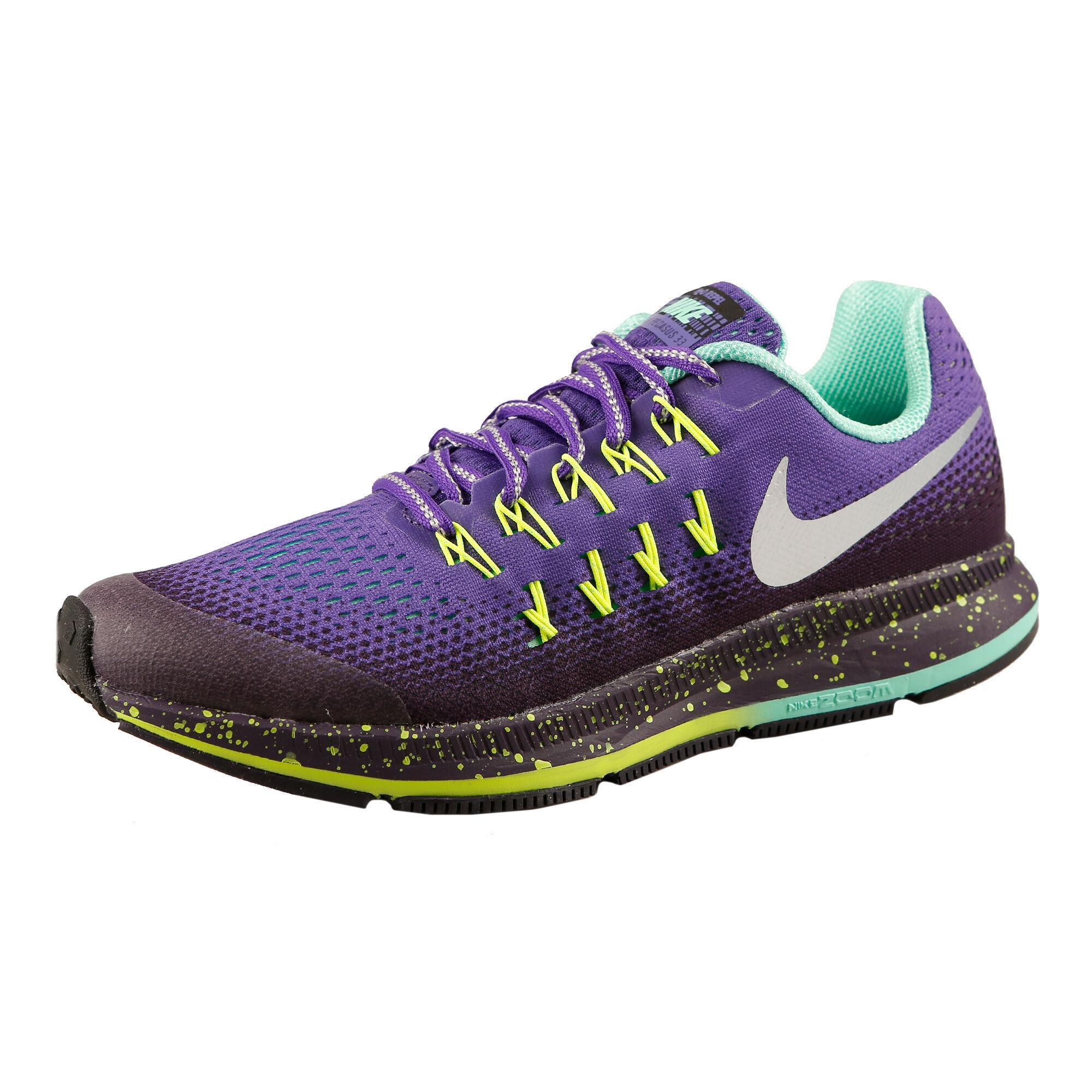 big sale 1d657 b5812 Nike Zoom Pegasus 33 Shield Neutral Running Shoe Kids - Violet, Silver