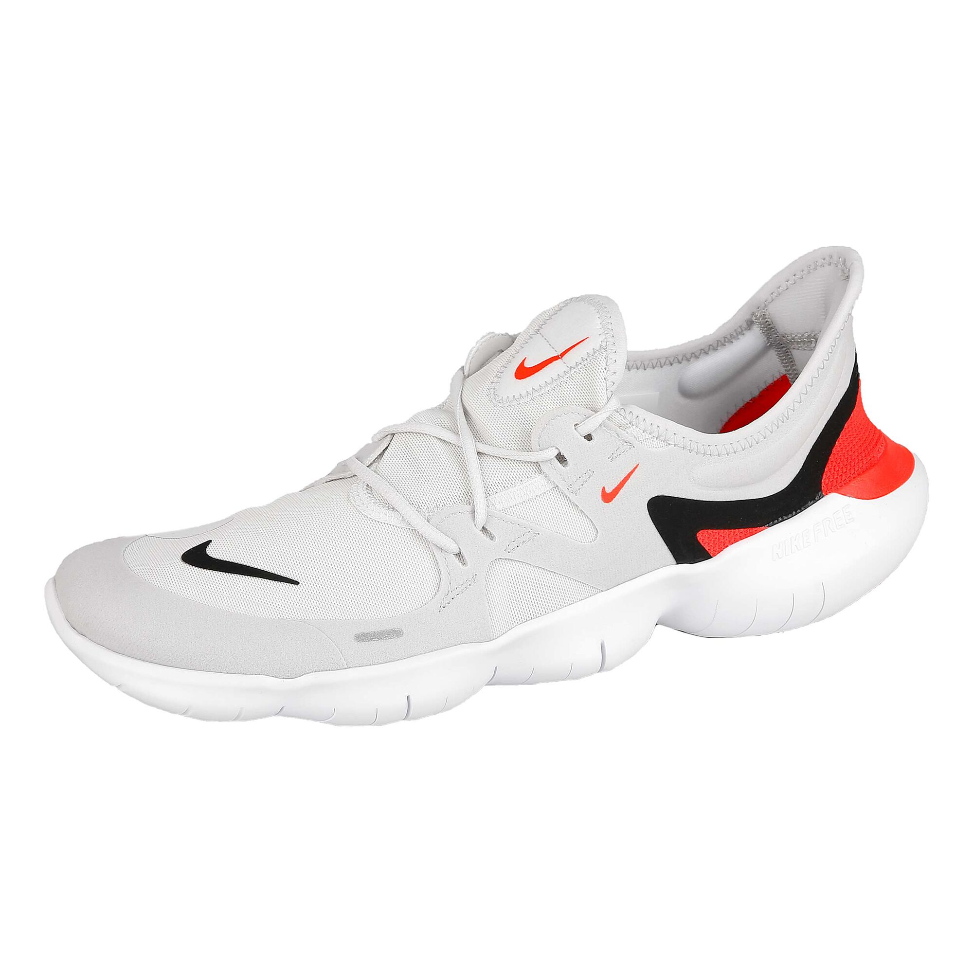 huge discount 99a21 d5d1d Nike Free 5.0 Natural Running Shoe Men - White, Black