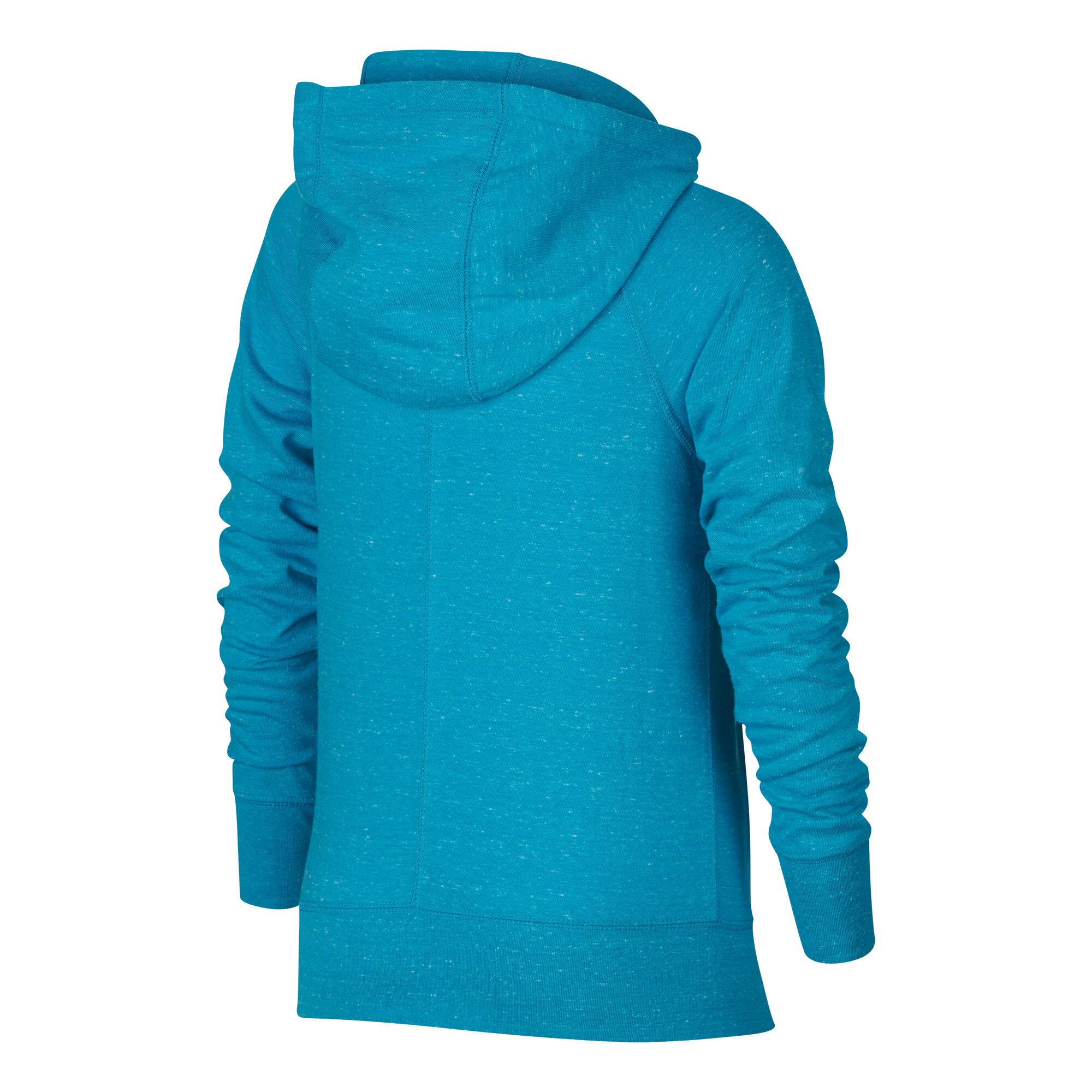 f3af1442eb2c buy Nike Sportswear Gym Vintage Full-Zip Hoodie Girls - Light Blue ...